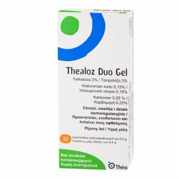 Thea Laboratoires Thealoz Duo Gel Λιπαντικό & Αναπλαστικό Τζελ Ματιών, 30 x 0.4gr
