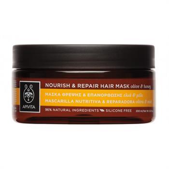 Apivita Nourish & Repair Hair Mask Θρέψης & Επανόρθωσης με Ελιά & Μέλι για Ξηρά Μαλλιά 200ml