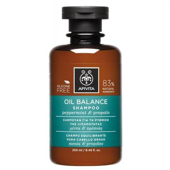 Apivita Oil Balance Σαμπουάν για τα Λιπαρά Μαλλιά με Μέντα & Πρόπολη 250ml