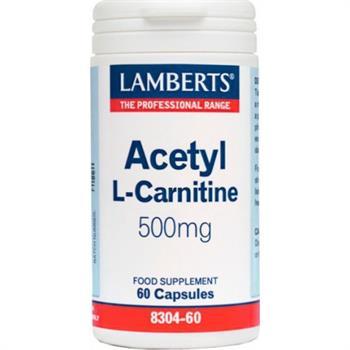 Lamberts Acetyl L-Carnitine 500mg 60caps