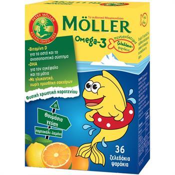 Moller's Ω3 Λιπαρά Οξέα 36 gummies