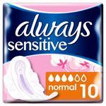 Always Sensitive Ultra Normal Plus Σερβιέτες Με Φτερά 10τμχ