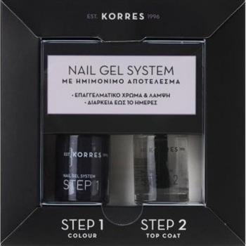 Korres Nail Gel System Dark Mauve 10ml & Βερνίκι Νυχιών Top Coat 10ml