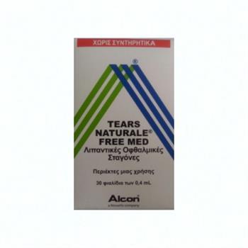 Alcon Tears Naturale Free Med, Λιπαντικές Οφθαλμικές Σταγόνες σε Περιέκτες μιας Χρήσης 30 x 0.4ml