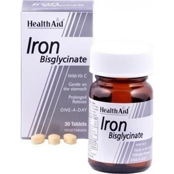 Health Aid Iron Bisglycinate 30mg 30tabs