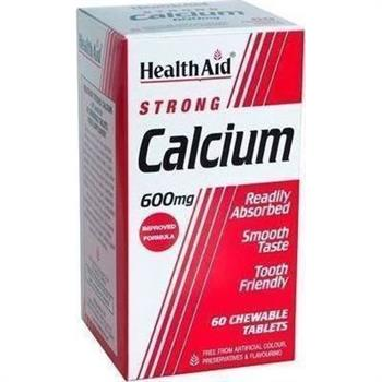 Health Aid Strong Calcium 600mg 60 μασώμενες ταμπλέτες