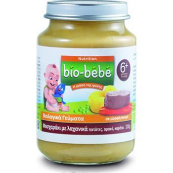 Bio-Bebe Βιολογική Βρεφική Τροφή Μοσχαράκι με Λαχανικά 200gr