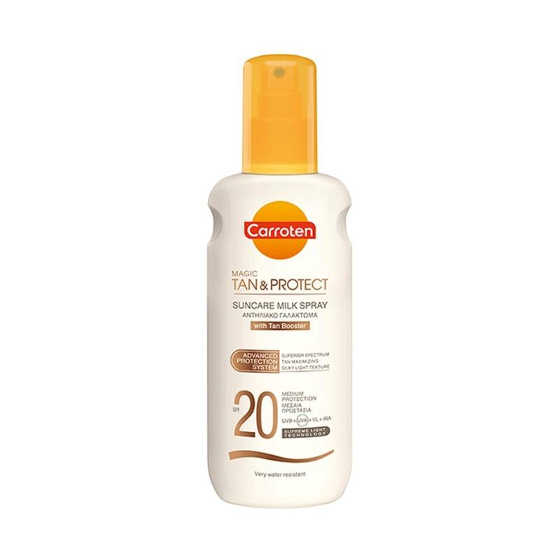 Carroten Magic Tan & Protect Suncare Milk Spray SPF20 200ml