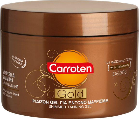 Carroten Gold Shimmer Tanning Gel 150ml