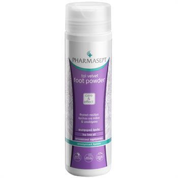 Pharmasept Tol Velvet Foot Care Powder Φυσική Πούδρα Αμύλου για Πόδια & Παπούτσια με Αντιμυκητιακή Δράση 70gr