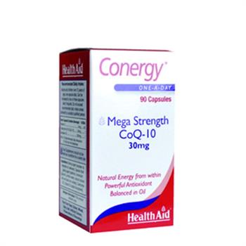 Health Aid Conergy Mega Strength CoQ-10 30mg 90caps