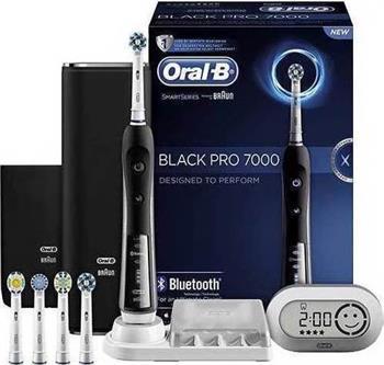 Oral-B Black Pro 7000 Smart Series  Blootooth Επαναφορτιζόμενη Ηλεκτρική Οδοντόβουρτσα