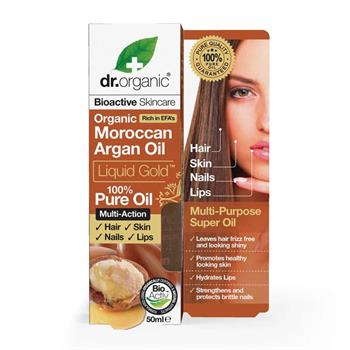Dr. Organic Moroccan Argan Oil Liquid Gold 100% Pure Oil 50ml