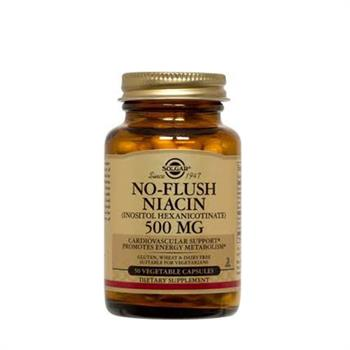 Solgar No Flush Niacin 500mg 50caps