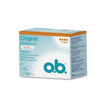 O.B. Original Curved Grooves Super Ταμπόν 8Τμχ