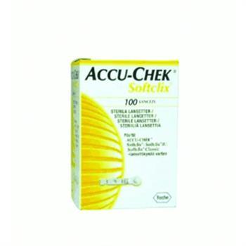 Roche Accu-Chek Softclix Lancets Αποστειρωμένες Βελόνες - Σκαρφιστήρες 100 τεμάχια