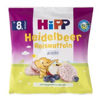 HiPP Ρυζογκοφρετάκι Μήλου και Βατόμουρου 35gr 17τμχ