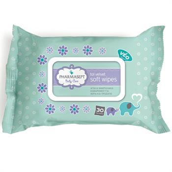 Pharmasept Tol Velvet Baby Soft Wipes 30τμχ