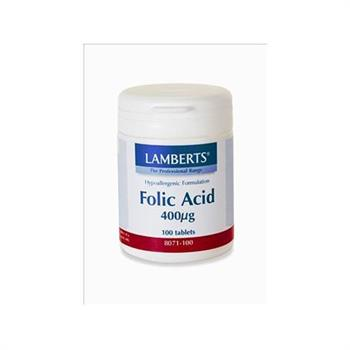 Lamberts Folic Acid 400mcg 100tabs
