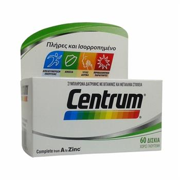 Centrum A to Zinc 60tabs