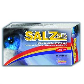 Salz 5% Οφθαλμικές Σταγόνες σε Μονοδόσεις 50x0,5ml