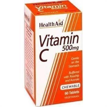 Health Aid Vitamin C 500mg 60 μασώμενα δισκία
