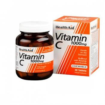 Health Aid  Vitamin C 1000mg 30 μασώμενα  δισκία