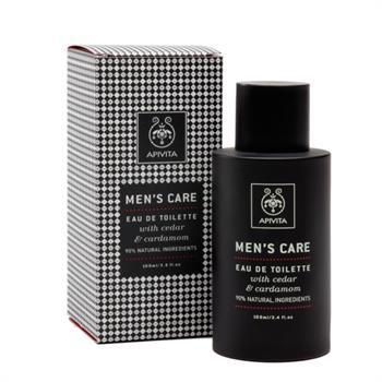 Apivita Men's Care Eau De Toilette Άρωμα με Κέδρο & Κάρδαμο 100ml