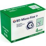 BD Micro-Fine Penta Point Αποστειρωμένες βελόνες ινσουλίνης 4mm x 0.23mm (32G) 100τμχ.