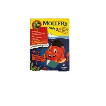 Moller's OMEGA-3 Ζελεδάκια Φράουλα 36tabs