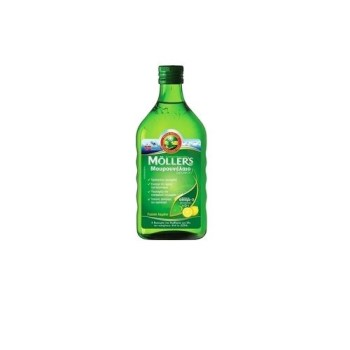 Moller's Cod Liver Oil Natural , Μουρουνέλαιο με Γεύση Λεμόνι 250ml