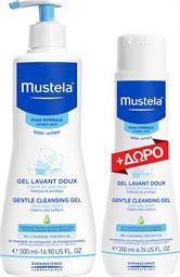 Mustela Promo Gentle Cleansing Gel Hair & Body 500ml & ΔΩΡΟ 200ml