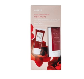 Korres Set Άγριο Τριαντάφυλλο Απολεπιστική Κρέμα Καθαρισμού & Άγριο Τριαντάφυλλο Κρέμα Ημέρας