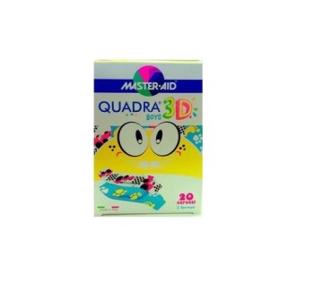 Master Aid Quadra 3D Boys 20τμχ