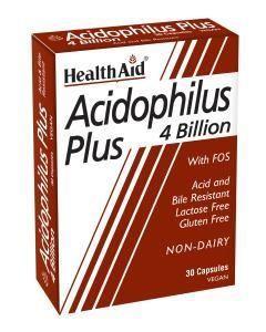 Health aid Acidophilus Plus 4 Billion Vegetarian Capsules 30s