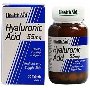 Health Aid Hyaluronic Acid 55mg, 30 tabs