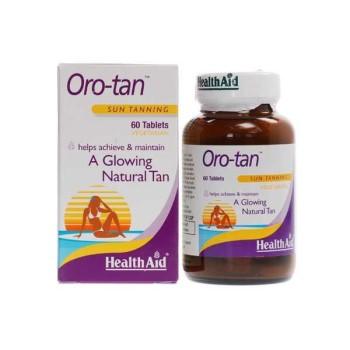 Health Aid Oro-tan Συμπλήρωμα Διατροφής για Λαμπερό & Φυσικό Μαύρισμα, 60 tabs