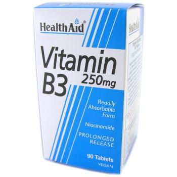 Health Aid Vitamin B3 (Niacin) 250mg