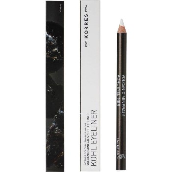 Korres Volcanic Minerals Kohl Eyeliner No03 White Μολύβι Ματιών Άσπρο 1,14gr