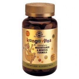 Solgar Kangavites Multivitamin & Mineral Formula Tropical Punch,60 chewable tabs