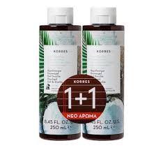 Korres Αφρόλουτρο Νερό Καρύδας showergel coconut water 1+1 δώρο / 2x250ml