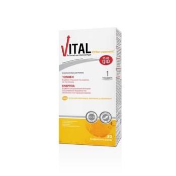 Vital Plus Q10 Effervescent Συμπλήρωμα Διατροφής για Ενέργεια και Τόνωση 30 αναβράζοντα δισκία