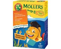 Moller's OMEGA-3 Ζελεδάκια Πορτοκάλι-Λεμόνι 36tabs