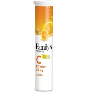 Power Health Family's Vitamins Βιταμίνη C Kids 80mg, 20tabs