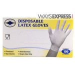 Disposable latex gloves powdered x 100 Xlarge