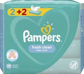 Pampers Fresh Clean 208τμχ Wipes