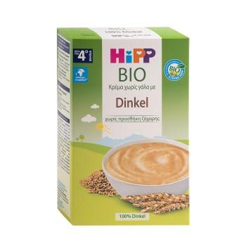 Hipp Bio Κρέμα χωρίς Γάλα με Dinkel μετά τον 4ο μήνα χωρίς Προσθήκη Ζάχαρης, 200 gr