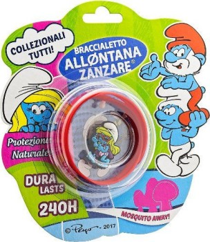 Italia-Brand Αντικουνουπικό Παιδικό Βραχιόλι The Smurfs 1τμχ