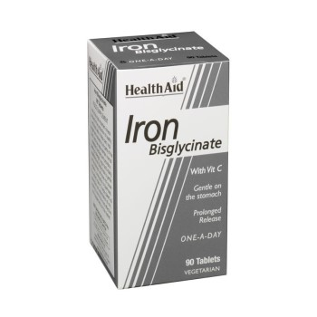 Health Aid Iron Bisglycinate 30mg 90tabs