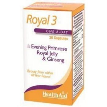 Health Aid Royal +3 (Royal Jelly + E.P.O. + Korean Ginseng) 30caps